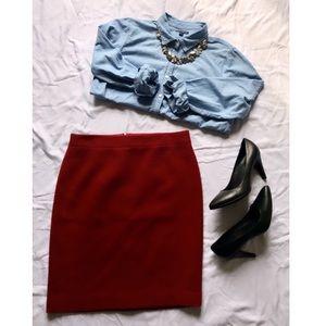 NWT JCrew Double-Serge Wool Pencil Skirt